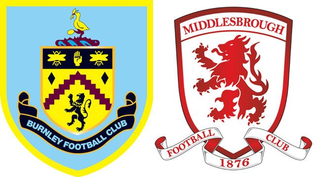 Burnley vs Middlesbrough logo