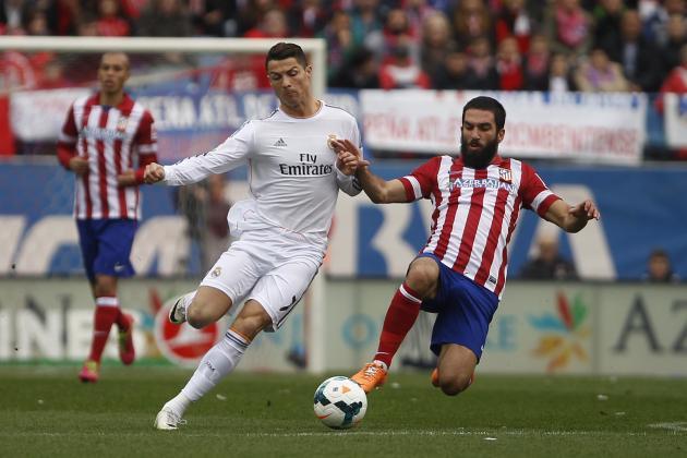 Real Madrid vs. Atletico Madrid - cristiano ronaldo and arda turan