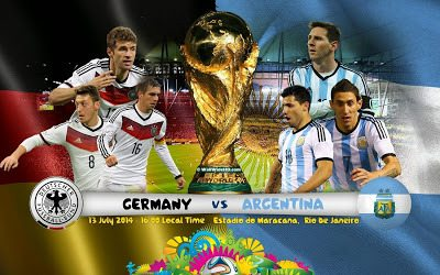 Argentina vs Germany world cup 2014 logo