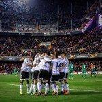 Valencia's players celebrate