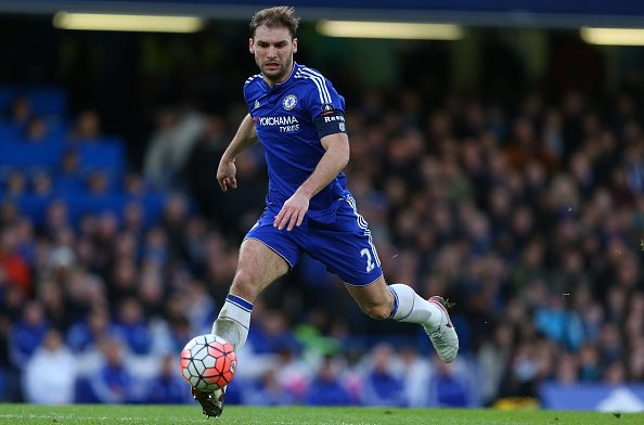 LONDON, ENGLAND - FEBRUARY 21: Branislav Ivanovic of Chelsea during the Emirates FA Cup match between Chelsea and Manchester City at Stamford Bridge on February 21, 2016 in London, England. (Photo by Catherine Ivill - AMA/Getty Images)
