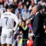 <> at Estadio Santiago Bernabeu on April 9, 2016 in Madrid, Spain.