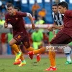 ROME, ITALY - 2016/08/20: Roma's Diego Perotti scores on a penalty kick during the Italian Serie A football match between Roma and Udinese at the Olympic stadium. Roma won 4-0. (Photo by Riccardo De Luca UPDATE/Pacific Press/LightRocket via Getty Images)