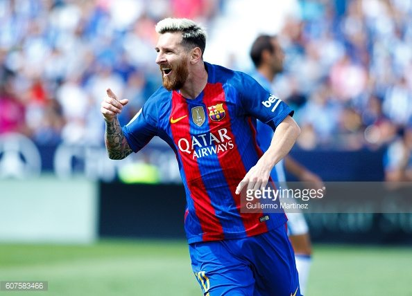 MADRID, SPAIN - SEPTEMBER 17: during the Spanish League 2016/17 match between Leganes and Barcelona, at Butarque Stadium in Madrid on September 17, 2016. (Photo by Guillermo Martinez/Corbis via Getty Images)