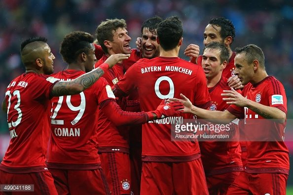 fc bayern munich celebration