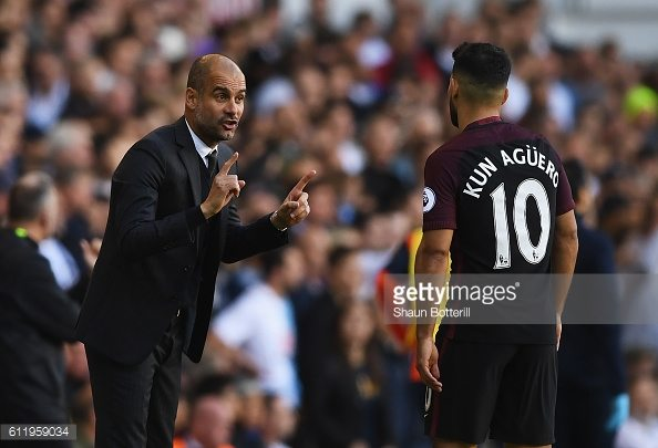 josep-guardiola-and-sergio-kun-aguero-tottenham-vs-mancester-city