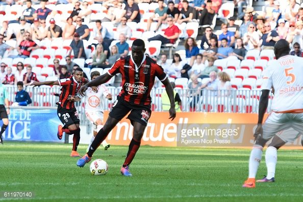 Mario Balotelli of Nice during the Ligue 1 match between OGC Nice and FC Lorient on October 2, 2016 in Nice, France. (Photo Pascal Della Zuana /Icon Sport)