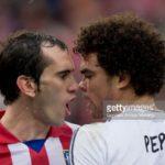 Club Atletico de Madrid v Real Madrid CF, La Liga, Godin vs Pepe