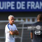 Didier Deschamps with Kylian Mbappe, French football national team training