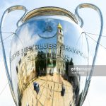 UEFA Champions league trophy ahead of the UEFA Champions League final between Real Madrid and Liverpool