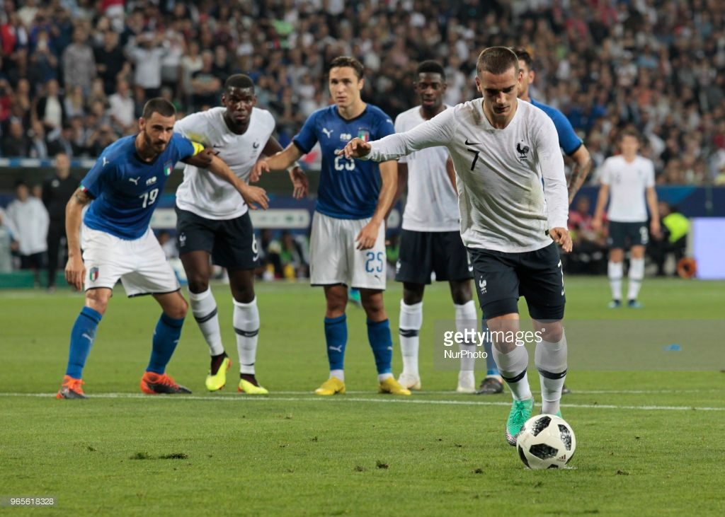 Antoine Griezmann penalty, France football national team
