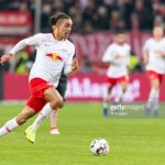 Yussuf Poulsen of RB Leipzig