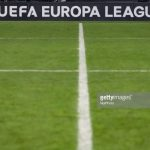 UEFA Europa League logo and pitch