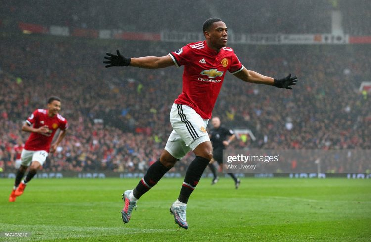Anthony Martial of Manchester United