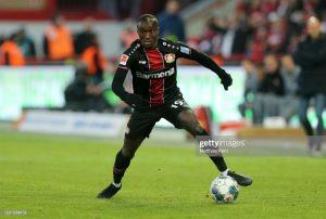 Moussa Diaby of Leverkusen
